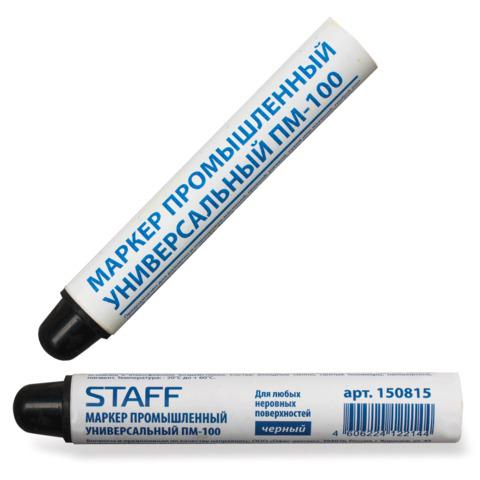 Маркер промышленный STAFF ПМ-100 твердый, д/любых неровных поверхностей, -20 до +40С, черный, 150815  Код: 150815