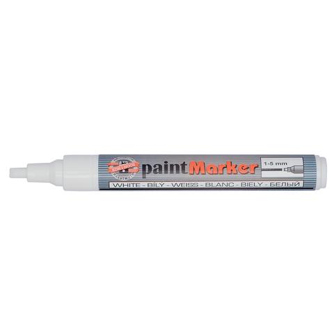 Маркер-краска лаковый KOH-I-NOOR, скошенный наконечник, 1-5мм, белый, 7733050001PS  Код: 150903