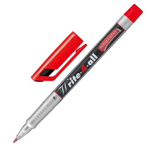 "Маркер-ручка перманентная STABILO ""Write"", толщина письма 0,7 мм, 156/40, красная  Код: 150935"
