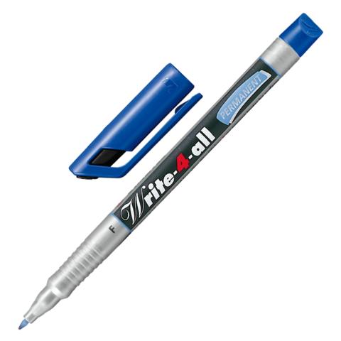 """Маркер-ручка перманентная STABILO """"Write"""", толщина письма 0,7 мм, 156/41, синяя  Код: 150936"""