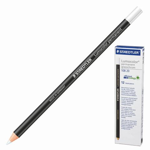 Маркер-карандаш сухой перманентный для любой поверхности, БЕЛЫЙ, 4,5мм, STAEDTLER, 108 20-0  Код: 151060