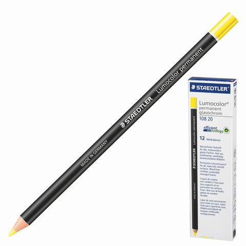 Маркер-карандаш сухой перманентный для любой поверхности, ЖЕЛТЫЙ, 4,5мм, STAEDTLER, 108 20-1  Код: 151061