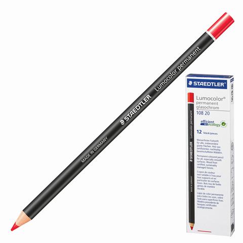 Маркер-карандаш сухой перманентный для любой поверхности, КРАСНЫЙ, 4,5мм, STAEDTLER, 108 20-2  Код: 151062