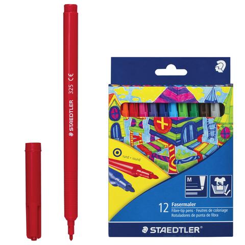 """Фломастеры STAEDTLER (Германия) """"Noris Club"""", 12 цв, смываемые, картон. упаковка,европодвес, 325 C12  Код: 151076"""