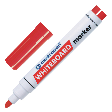Маркер для доски CENTROPEN, круглый наконечник, 2,5мм, красный, 8559/1К  Код: 151108