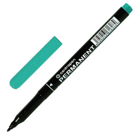 Маркер перманентный (нестираемый) CENTROPEN, трехгранный, круглый наконечник, 1мм, синий, 2536/1C  Код: 151109