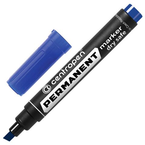 Маркер перманентный (нестираемый) CENTROPEN, скошенный наконечник, 1-4,6мм, синий, 8576/С  Код: 151110