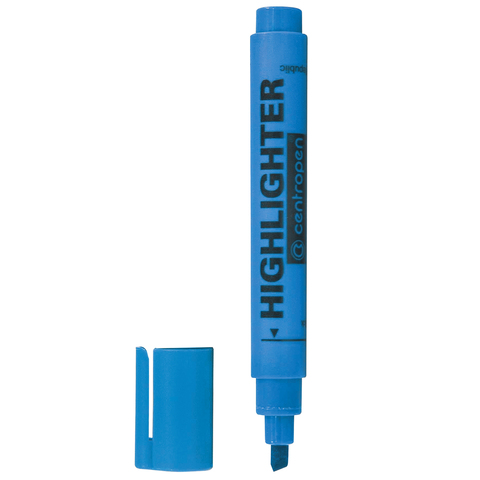 Текстмаркер CENTROPEN, скошенный наконечник 1-4,6 мм, НЕОН синий, 8852/1С  Код: 151135