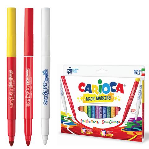"""Фломастеры CARIOCA (Италия) """"Magic"""", 20 шт, 18цв+1 изменяющий цвет+1 стирающий, карт. коробка, 41369  Код: 151221"""