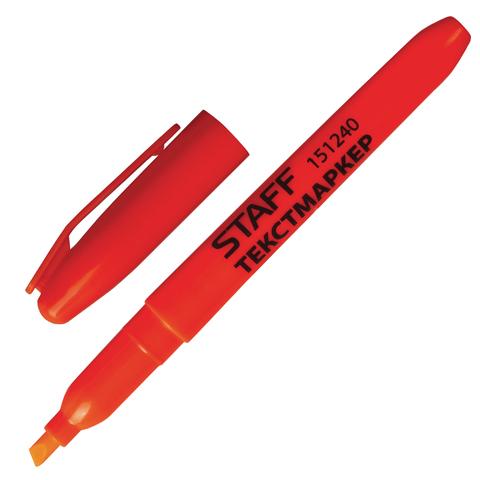 Текстмаркер STAFF, эргономичный корпус, скошенный наконечник 1-3мм, оранжевый, 151240  Код: 151240