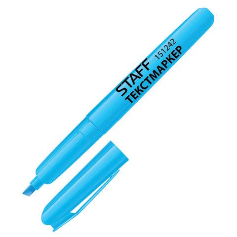 Текстмаркер STAFF, эргономичный корпус, скошенный наконечник 1-3мм, голубой,  151242  Код: 151242