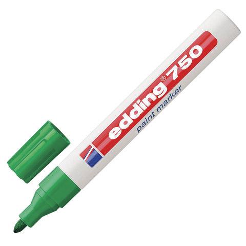 Маркер-краска лаковый EDDING 750, 2-4 мм, круглый наконечник, алюминиевый корпус, зеленый, E-750/4  Код: 151312