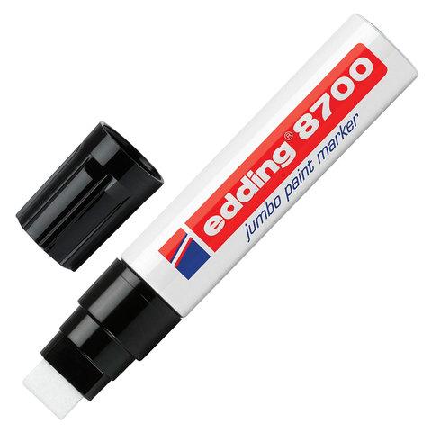 Маркер-краска лаковый EDDING 8700 JUMBO 5-18 мм, скош.наконечник, алюмин. корпус, белый, E-8700/49  Код: 151326