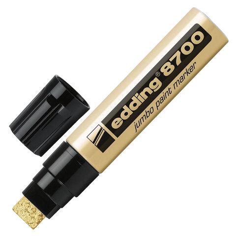 Маркер-краска лаковый EDDING 8700 JUMBO 5-18 мм, скош.наконечник, алюмин. корпус, золотой, E-8700/53  Код: 151327