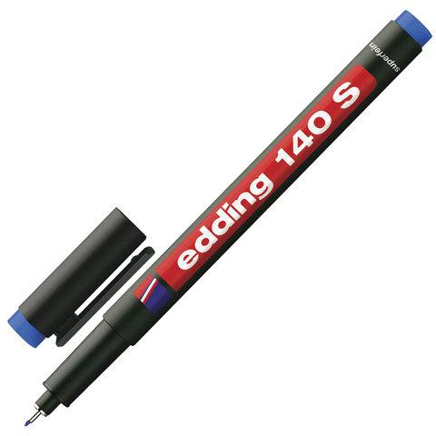 Маркер для пленок и глянцевых поверхностей EDDING 140, 0,3 мм, метал.наконечник, синий, E-140/3  Код: 151339