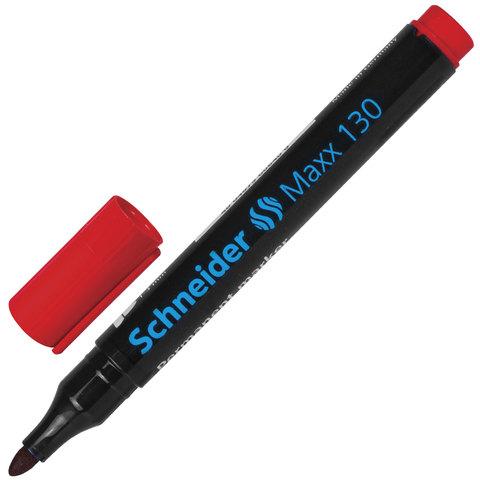 Маркер перманентный (нестираемый) SCHNEIDER (Германия) Maxx 130, круглый, 1-3 мм, красный, 113002  Код: 151360