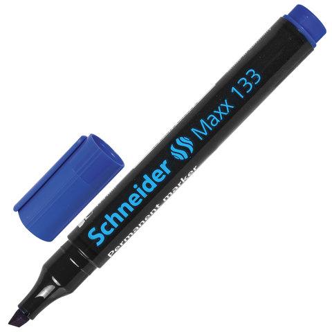 Маркер перманентный (нестираемый) SCHNEIDER (Германия) Maxx 133, скошенный, 1-4 мм, синий, 113303  Код: 151362