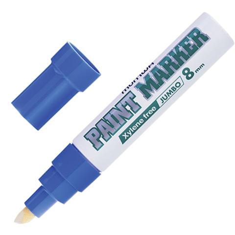 "Маркер-краска лаковый MUNHWA ""Jumbo"", 8мм, нитро-основа, алюминиевый корпус, СИНИЙ, JPM-02  Код: 151460"