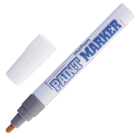 Маркер-краска лаковый MUNHWA, 4мм, нитро-основа, алюминиевый корпус, СЕРЕБРЯНЫЙ, PM-06  Код: 151478