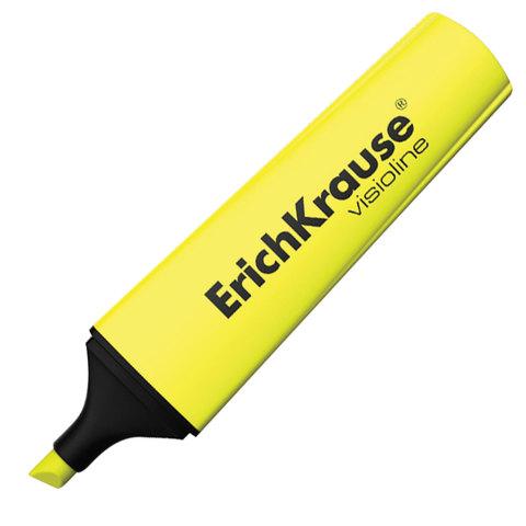 """Текстмаркер ERICH KRAUSE """"Visioline V-12"""", скошенный наконечник 0,6-5,2 мм, желтый, 32496  Код: 151502"""