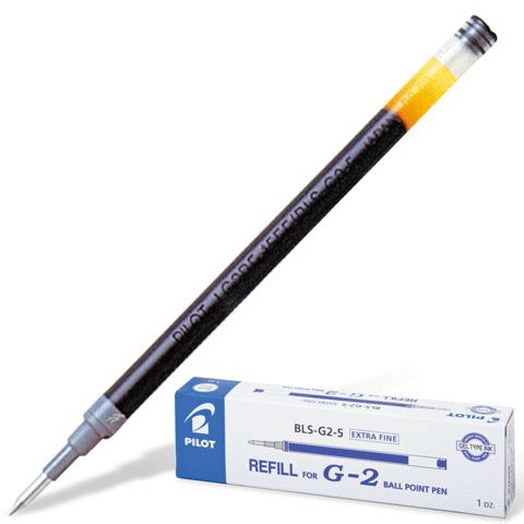 Стержень гелевый PILOT 110мм, евронаконечник, узел 0,5мм, линия 0,3мм, синий, BLS-G2-5  Код: 170100