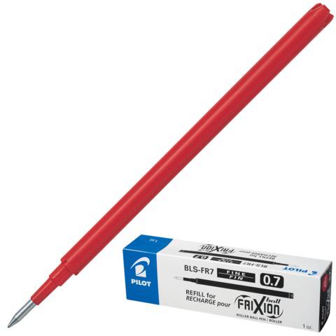 Стержень стираемый гелевый PILOT 111мм, евронаконечник, узел 0,7мм, линия 0,35мм, красный,BLS-FR-7  Код: 170248