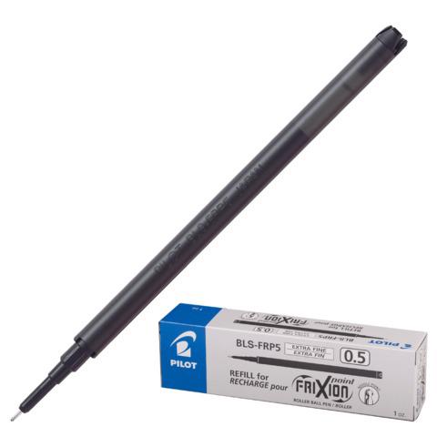 Стержень стираемый гелевый PILOT 111мм, игольчатый узел 0,5мм, линия 0,25мм, черный, BLS-FRP-5  Код: 170249
