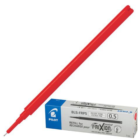 Стержень стираемый гелевый PILOT 111мм, игольчатый узел 0,5мм, линия 0,25мм, красный, BLS-FRP-5  Код: 170250