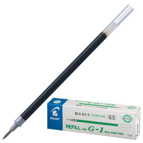 Стержень гелевый PILOT 128мм, евронаконечник, узел 0,5мм, линия 0,3мм, зеленый, BLS-G1-5  Код: 170251