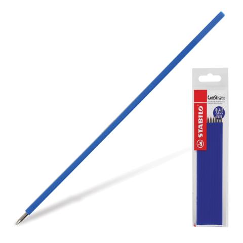 Стержни шариковые STABILO, НАБОР 10шт, LeftRight 135мм, узел 0,8мм, линия 0,4мм, синие, 6308/10-41  Код: 170280