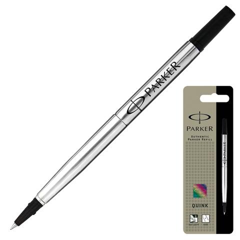 Стержень-роллер PARKER (Франция) Quink RB металлический 116мм, 0,5мм, черный, 1950277  Код: 170314