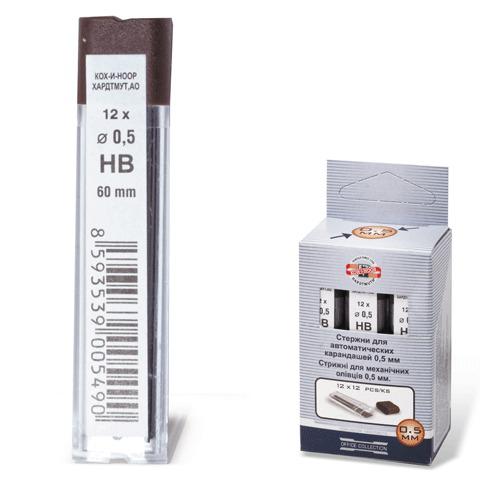 Грифель запасной KOH-I-NOOR, НВ, 0,5 мм, 12 шт., 4152/НВ  Код: 180124