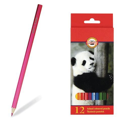 """Карандаши цветные KOH-I-NOOR """"Animals"""", 12 цв, грифель 2,8 мм, заточенные, европодвес, 3552/12  Код: 180308"""