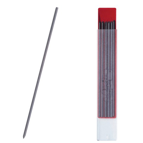 Грифель для циркуля и цангового карандаша KOH-I-NOOR, НВ, 2 мм, КОМПЛЕКТ 12 шт., 4190/НВ  Код: 180332