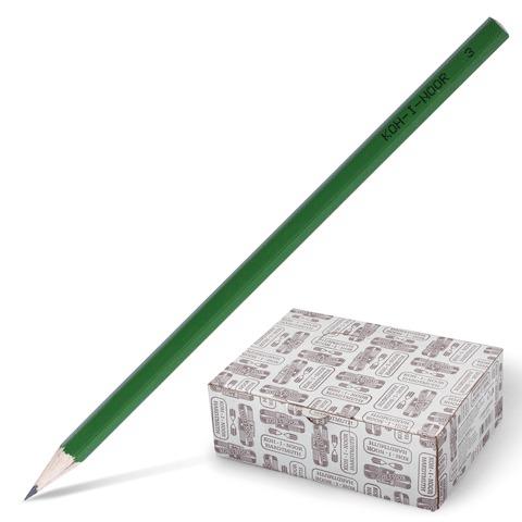 Карандаш ч/гр KOH-I-NOOR, 1шт., H, без резинки, корпус зеленый, заточенный, 1702  Код: 180812