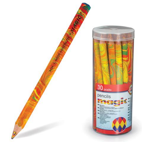 """Карандаш с многоцветным грифелем KOH-I-NOOR, 1шт., Magic """"Original"""", 5,6 мм, заточенный,3405000031TD  Код: 181007"""