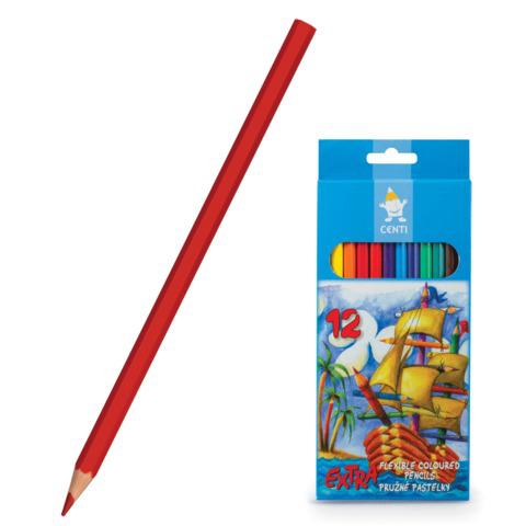 Карандаши цветные KOH-I-NOOR 12 цв, грифель 2,8мм, пластиковые, заточенные, европодвес, 2162012004KS  Код: 181030