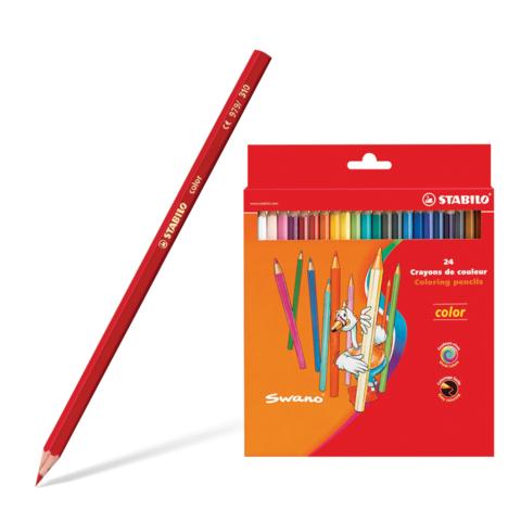 """Карандаши цветные STABILO """"Color"""", 24 цветов, грифель 2,5 мм, заточ., картон.футляр, 1924-77  Код: 181108"""