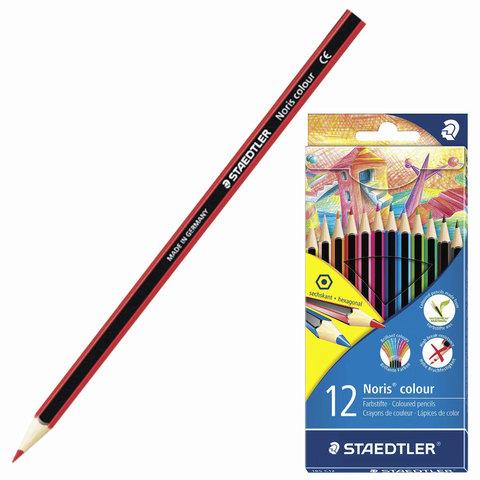 """Карандаши цветные STAEDTLER (Германия) """"Noris Color Ecology"""", 12 цв, заточенные, европодвес, 185 C12  Код: 181240"""