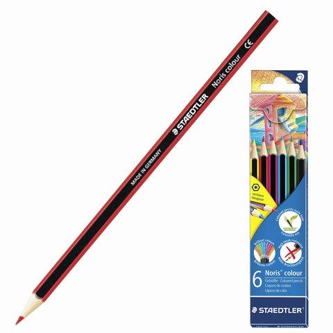 """Карандаши цветные STAEDTLER (Германия) """"Noris Color Ecology"""",  6 цв, заточенные, европодвес, 185 C6  Код: 181245"""
