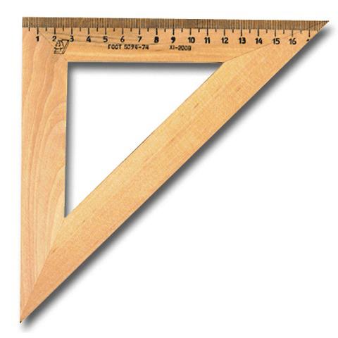 Треугольник деревянный, 45*18 см, УЧД, С15  Код: 210153
