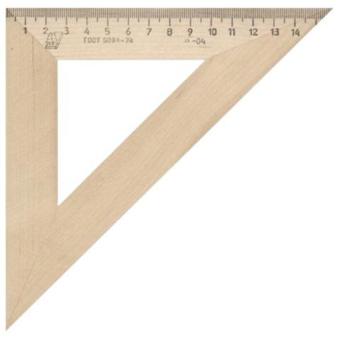 Треугольник деревянный, 45*16 см, УЧД, С16  Код: 210154