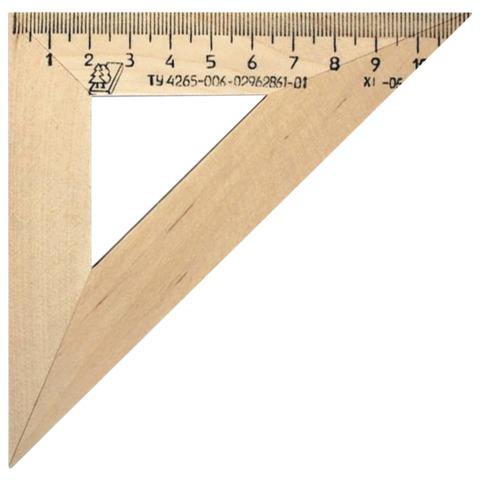 Треугольник деревянный, 45*11 см, УЧД, С138  Код: 210155