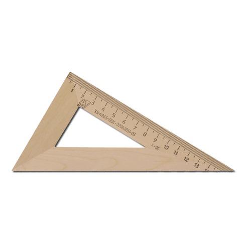 Треугольник деревянный, 30*16 см, УЧД, С139  Код: 210156