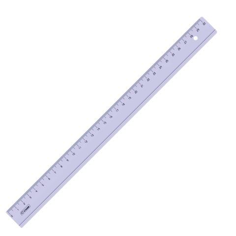 Линейка пластик 30 см СТАММ, прозрачная, тонированная, ЛН34  Код: 210509
