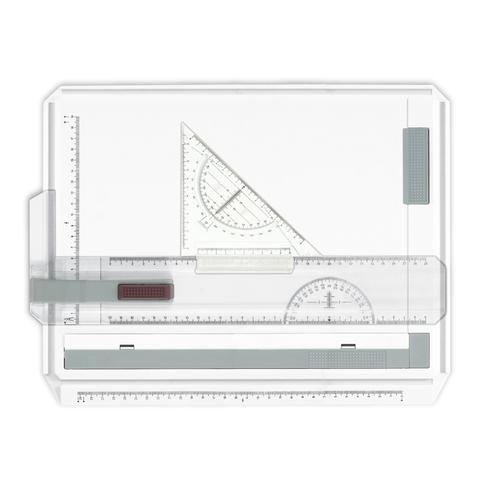 Доска чертежная А4, 370х295мм,  с рейсшиной и треугольником, BRAUBERG, 210535  Код: 210535