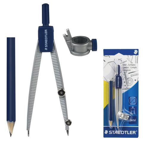 Циркуль STAEDTLER (Германия), 124мм, металлический, карандаш в комплекте, блистер, 550 55 BK  Код: 210545