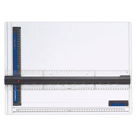 Доска чертежная STAEDTLER (Германия), формат А3,с рейсшиной, пластик, нескользящ. резин. ножки,661А3  Код: 210546