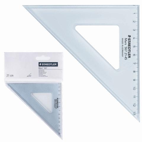 """Треугольник пластик 45*12 см, STAEDTLER (Германия) """"Mars"""", прозрачный, 567 21-45  Код: 210564"""