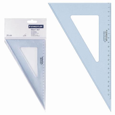 """Треугольник пластик 30*21 см, STAEDTLER (Германия) """"Mars"""", прозрачный, 567 26-60  Код: 210565"""
